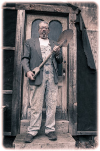 Gothic Farmer With His Old Shovel