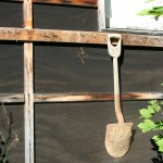 Shovel Hanging On The Shed