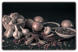 Antique Seasoning Display