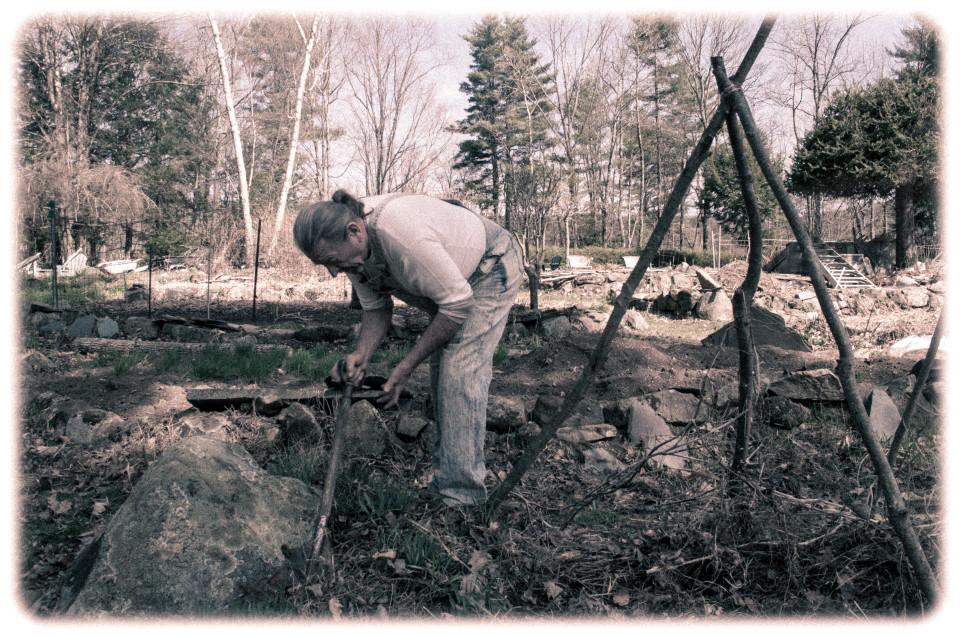Richard Digs in the Garden