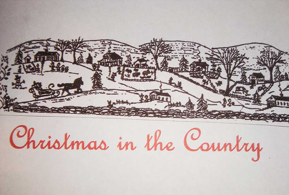Christmas In The Country Drawing
